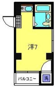 タカラコーポ日吉1階Fの間取り画像