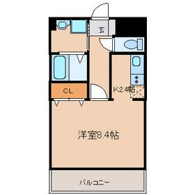 アメニティーN2階Fの間取り画像