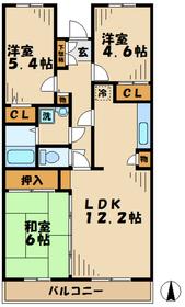 鶴巻温泉駅 車13分4.6キロ4階Fの間取り画像
