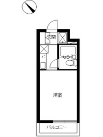 スカイコート鶴見43階Fの間取り画像