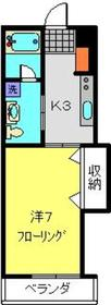 綱島駅 徒歩10分2階Fの間取り画像