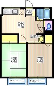 シティハイム ササヤマB1階Fの間取り画像
