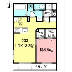 仮称)代田1丁目メゾン東棟2階Fの間取り画像