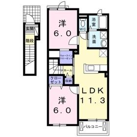 マルベリーⅠ2階Fの間取り画像