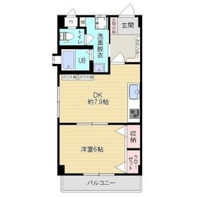 大竹ハイツ5階Fの間取り画像