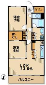 パレステージ稲城3階Fの間取り画像