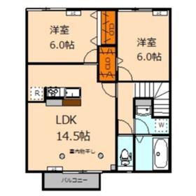 仮称 国分寺市内藤2丁目レジデンス2階Fの間取り画像