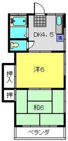 栄荘2階Fの間取り画像