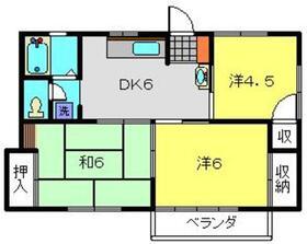 サンコーポ二俣川2階Fの間取り画像