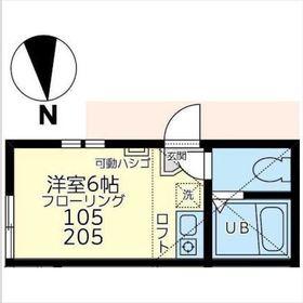 ユナイト和田町ピートダイ2階Fの間取り画像