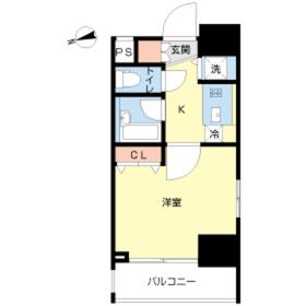 スカイコート新宿落合壱番館7階Fの間取り画像
