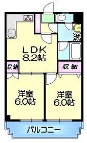村田マンション3階Fの間取り画像