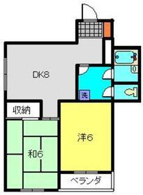 大貫ビル6階Fの間取り画像