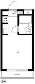 ビアメゾン三井パート212階Fの間取り画像