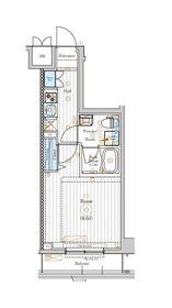 (仮称)鹿島田マンションⅡ2階Fの間取り画像