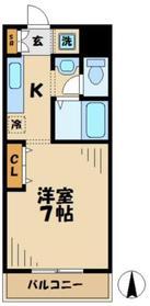 ポナール23階Fの間取り画像