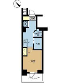 スカイコート日本橋人形町第56階Fの間取り画像