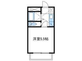 ララ本厚木NO22階Fの間取り画像