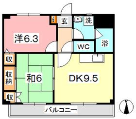 マンション曽根本 II3階Fの間取り画像