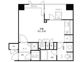 レジディア文京湯島7階Fの間取り画像