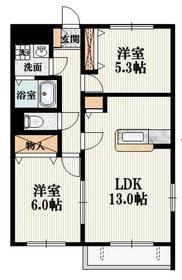 メゾン・ジェミニ3階Fの間取り画像