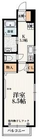 アズライトローズ2階Fの間取り画像