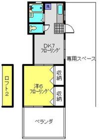 ハイツ浅川1階Fの間取り画像