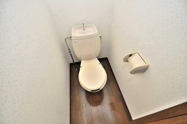 エステートピアナカタC棟 スタンダードなトイレは清潔感があって、リラックス出来ます。