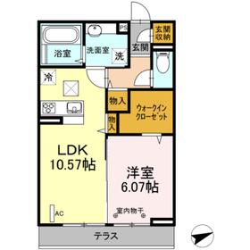仮)セジュールオッツ愛甲新築工事1階Fの間取り画像