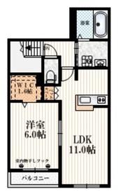 MY MAISON2階Fの間取り画像