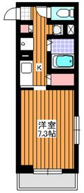 地下鉄赤塚駅 徒歩1分1階Fの間取り画像