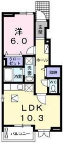 金子駅 徒歩22分1階Fの間取り画像