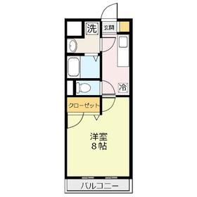 ポレール3階Fの間取り画像