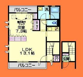 東伏見駅 徒歩10分2階Fの間取り画像
