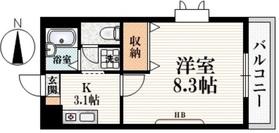 新大久保駅 徒歩17分3階Fの間取り画像