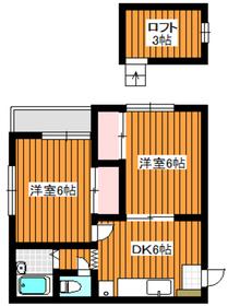 ヴィラコートマカベ12階Fの間取り画像
