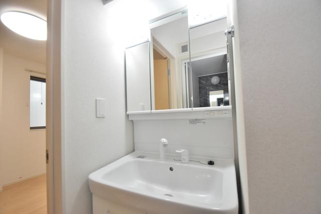 リジエールⅡ 人気の独立洗面所にはうれしいシャンプードレッサー完備です。