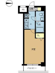 スカイコート錦糸町4階Fの間取り画像