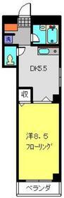ライフ山手Ⅱ2階Fの間取り画像