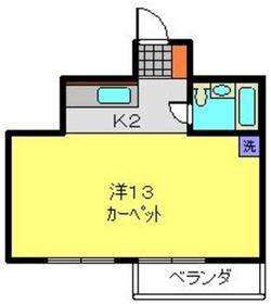 石田ビル7階Fの間取り画像