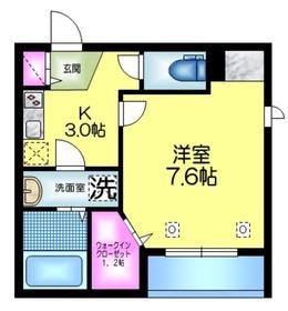 (仮称)浅草3丁目メゾン2階Fの間取り画像