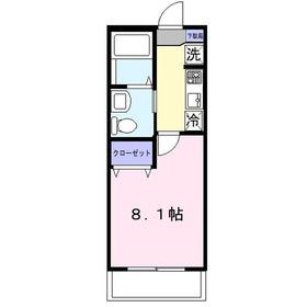 ブライトヒルズ1階Fの間取り画像
