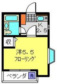 リーベ日吉2階Fの間取り画像