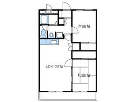 ビュースフルマンション桜台5階Fの間取り画像