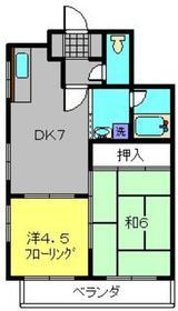 ラフィネ・K2階Fの間取り画像