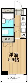 リバーサイドハイツ湘南3階Fの間取り画像