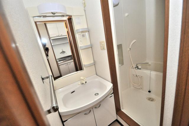 エスティームⅠ番館 人気の独立洗面所にはうれしいシャンプードレッサー完備です。