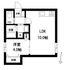 レグルス千川1階Fの間取り画像