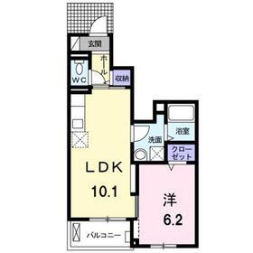 モデッサ151階Fの間取り画像