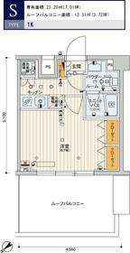 スカイコートパレス西巣鴨8階Fの間取り画像